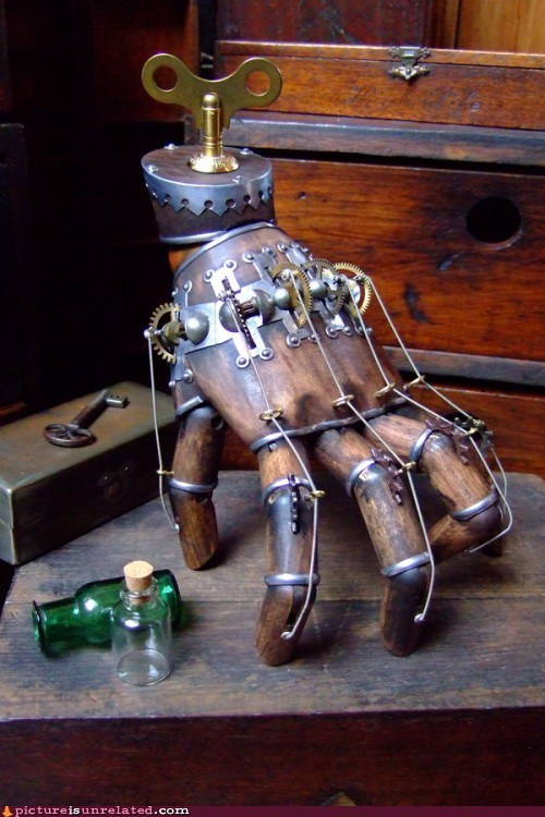 hand,Steampunk,windup,wtf