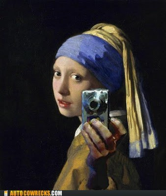 art,girl with a pearl earring,gpoy,painting,self poortraits,self poortrait