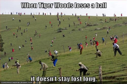 When Tiger Woods loses a ball  it doesn't stay lost long.