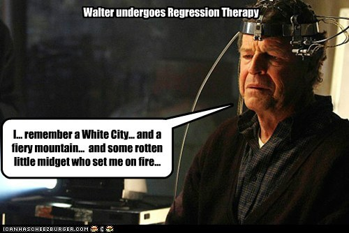 fire,Fringe,John Noble,mountain,regress,therapy,Walter Bishop