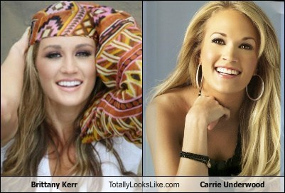 brittany Kerr,carrie underwood,celeb,funny,TLL