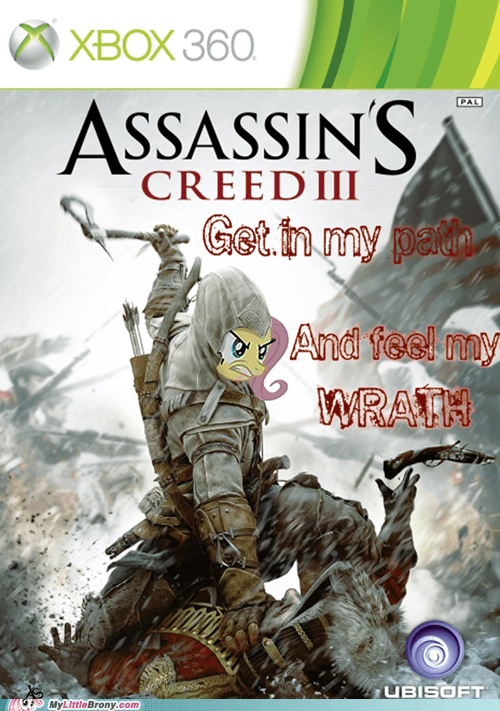 assassins creed,crossover,fluttershy,new fluttershy,video games