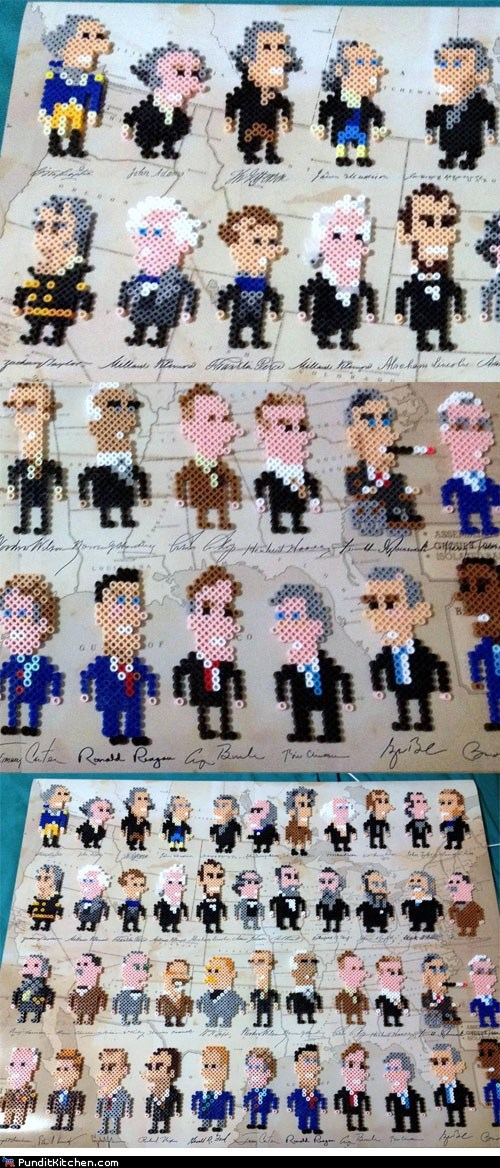 beads,crafts,political pictures,presidents