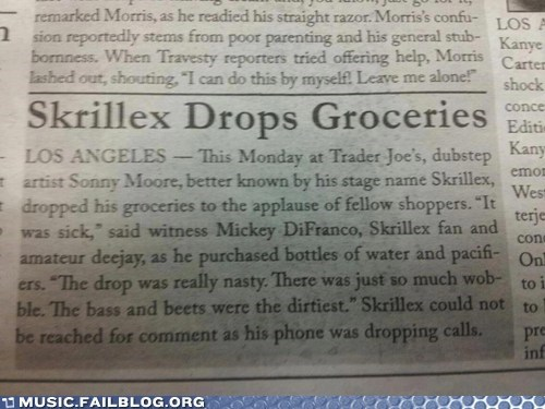 Music FAILS: Another Day in the Life of Skrillex