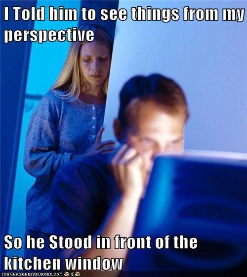 Internet Husband,kitchen,perspective,window