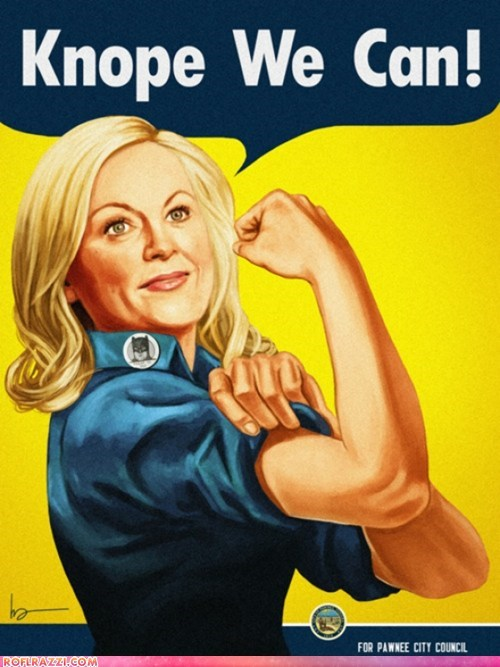 Leslie Knope as Rosie The Riveter