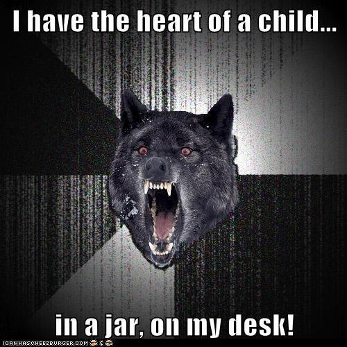 children,heart,hearts,insane,Insanity Wolf,jar,Memes,violence,wolves