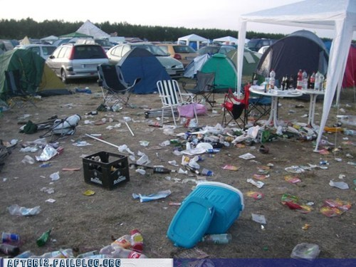 aftermath,apocalypse,camping,mess,Party,trash