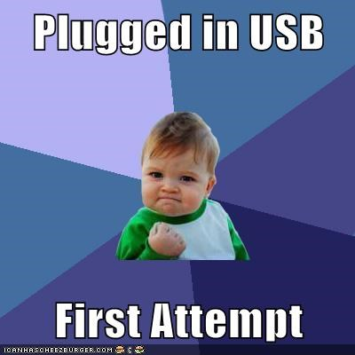 Plugged in USB  First Attempt