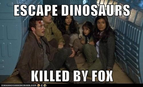 cancelled,dinosaurs,elisabeth shannon,fox,jason-omara,jim shannon,killed,shelley conn,terra nova