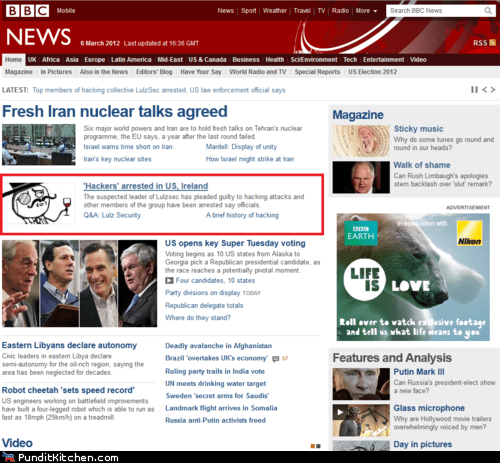 Lulzsec Betrayed by Leader, BBC Posts Ragefaces