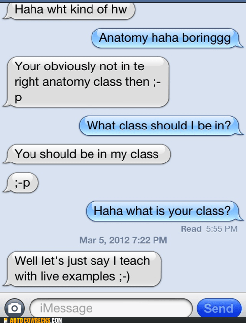 anatomy,class,flirting,pick-up lines,school