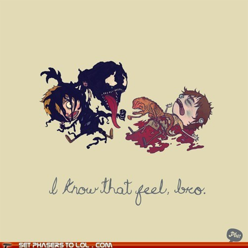 alien,Aliens,chest burster,i know that feel bro,parasite,Spider-Man,symbiote,Venom