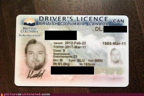 Canada,drivers licence,hair removal,nair,wtf