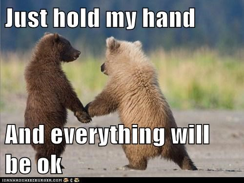 bear,cub,friends,help,love