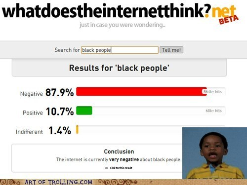 Wow Internet, Way to Be Racist