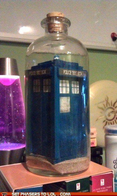 bottle,craft,doctor who,ship in a bottle,tardis