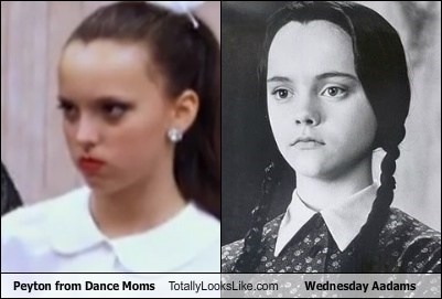 Peyton from Dance Moms Totally Looks Like Wednesday Addams (Christina Ricci)