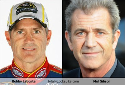 Bobby Labonte Totally Looks Like Mel Gibson