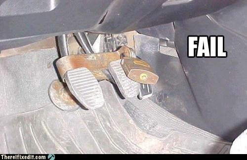 brake,gas pedal,master lock,padlock