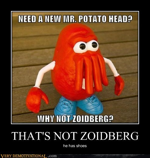 mr-potatohead,Pure Awesome,shoes,Zoidberg