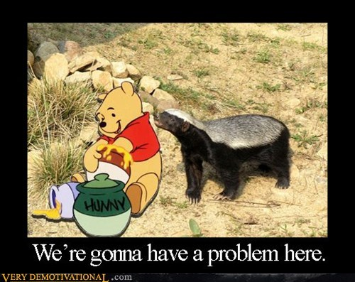 hilarious,honey,honey badger,winnie the pooh