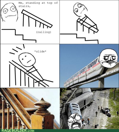 me gusta,Rage Comics,stairs,train