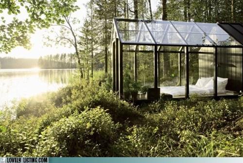 bedroom,glass,windows,woods