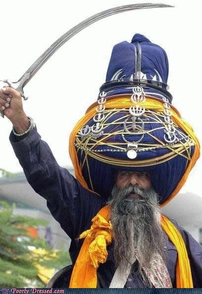 big,Bling,huge turban,sikh,sword,turban