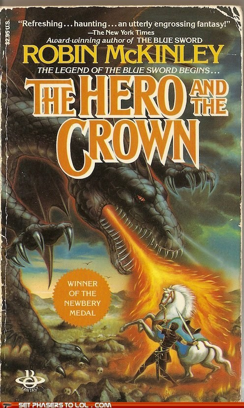 WTF Fantasy Book Covers: The Hero and the Crown