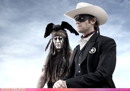 First Look: Arnie Hammer And Johnny Depp as Tonto And The Lone Ranger