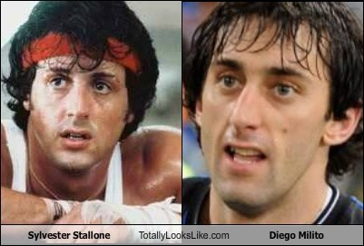 Sylvester Stallone Totally Looks Like Diego Milito