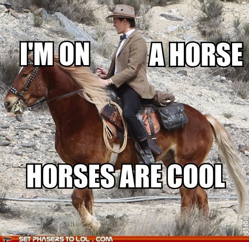 cool,doctor who,horse,look at my horse,Matt Smith,news,season 7,the doctor