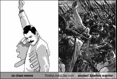 Success Meme (Freddie Mercury) Totally Looks Like Ancient Spartan Warrior
