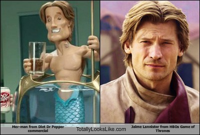 Mer-Man from Diet Dr Pepper Commercial Totally Looks Like Jaime Lannister (Nikolaj Coster-Waldau) from HBOs Game of Thrones