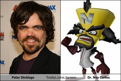 Peter Dinklage Totally Looks Like Dr. Neo Cortex