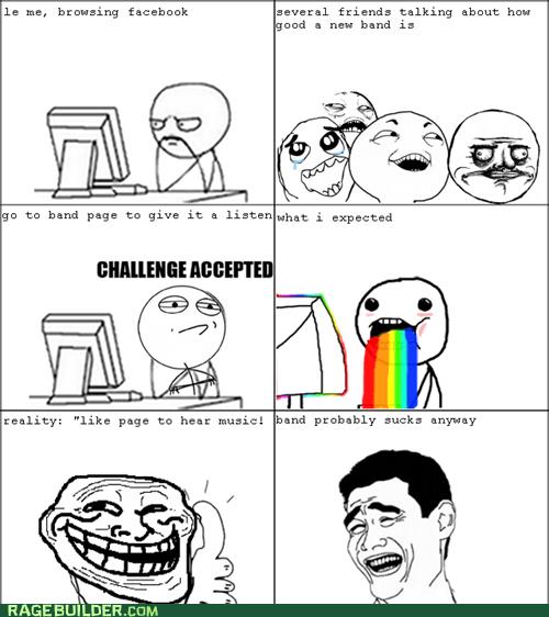 Challenge Accepted,puke rainbows,Rage Comics,troll face,yao ming