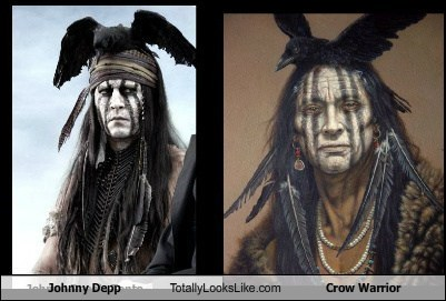 Johnny Depp Totally Looks Like Crow Warrior