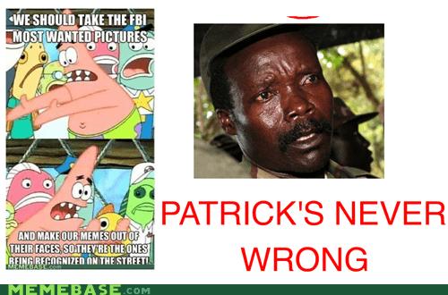 FBI,patrick,pushing patrick,recognition,serious
