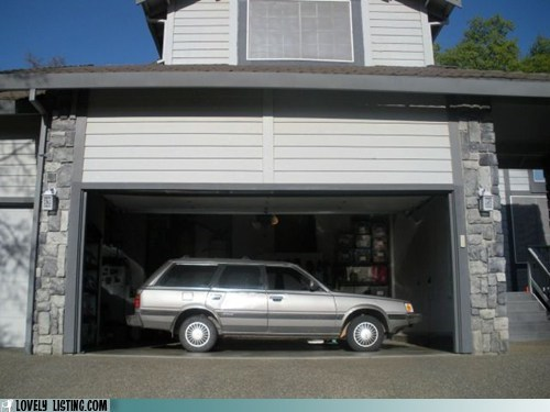 car,garage,parked,sideways