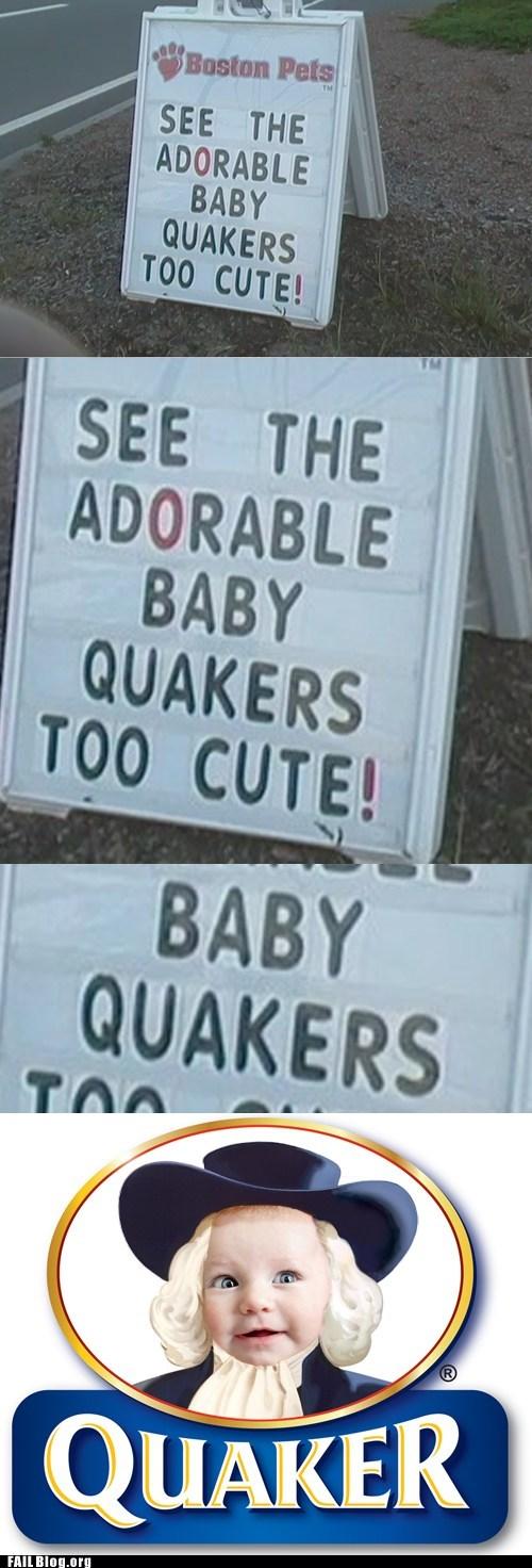 Baby Ducks FAIL