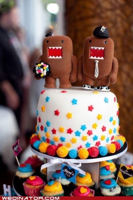 cake toppers,domo,funny wedding photos,wedding cakes