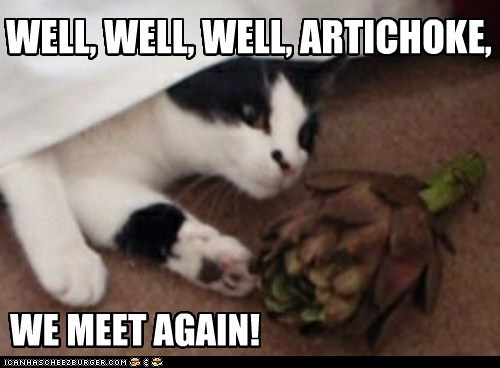 WELL, WELL, WELL, ARTICHOKE, WE MEET AGAIN!