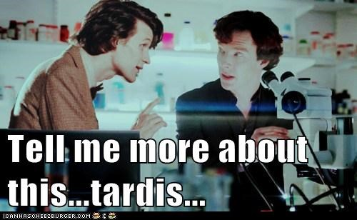 bennedict cumberbatch,doctor who,Matt Smith,Sherlock,sherlock bbc,tardis,tell me more,the doctor