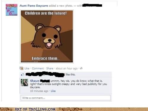 daycare,facebook,pedobear,publicity