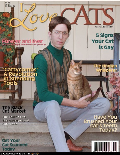 cover,fake,i love cats,lolwut,magazine