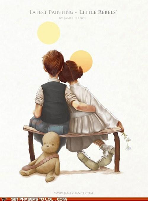 best of the week,Han Solo,kids,painting,Princess Leia,rebels,star wars
