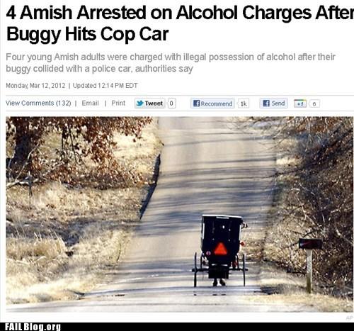 Probably bad news: Ye Olde DUI