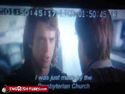 anakin,anakin skywalker,obi wan,Presbyterian Church,star wars