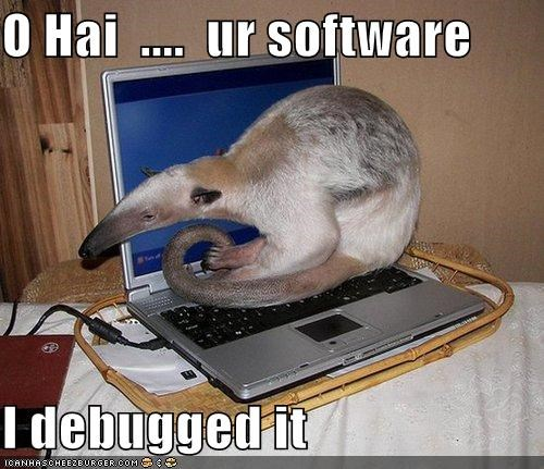 O Hai  ....  ur software  I debugged it